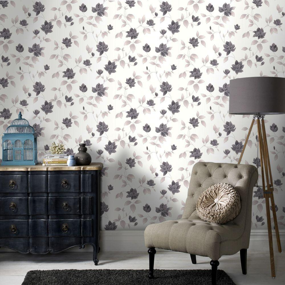 Amy Black and White Removable Wallpaper