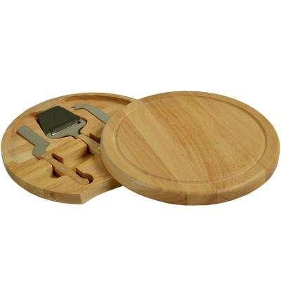 Yorkshire Hardwood Cheese Board Set with Quality Tools