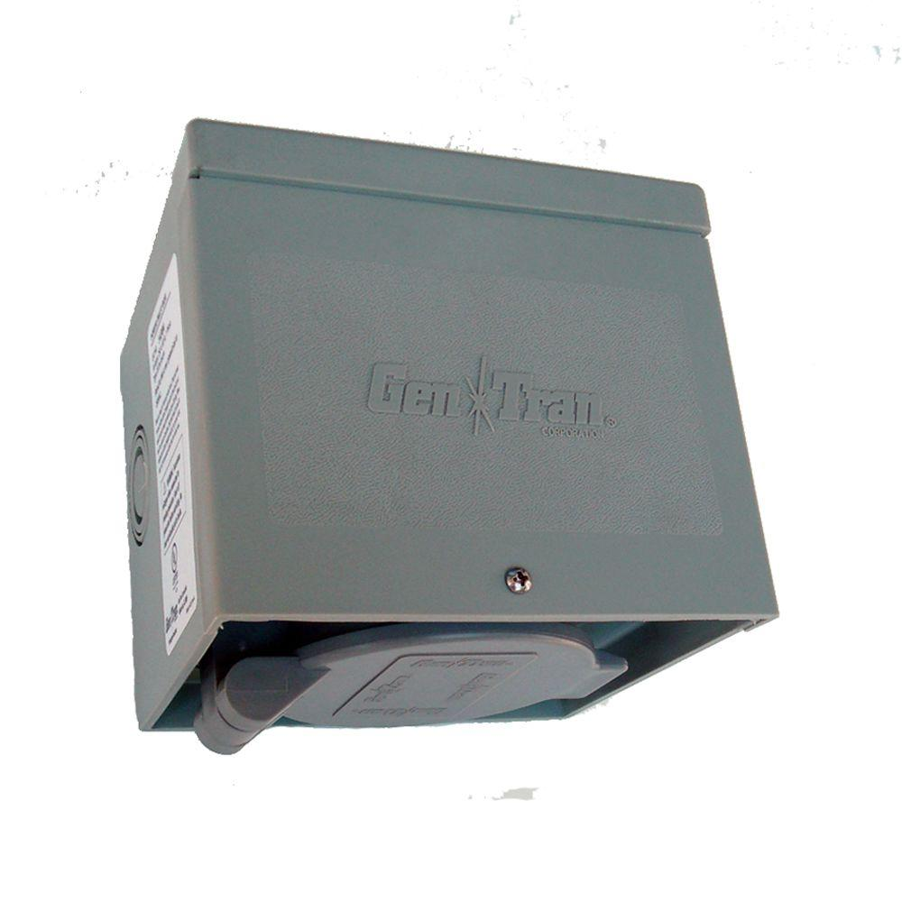 null 30 Amp 125/250 volt Non-Metallic Power Inlet Box NEMA L14-30 with Spring-Loaded Flip Lid-DISCONTINUED