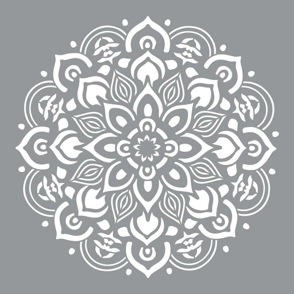 designer stencils shanti mandala stencil fs029 moxaz