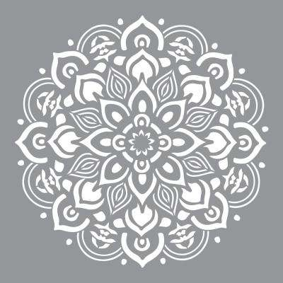 graphic about Free Printable Beach Stencils known as 12 in just. x 12 inside. Mandala Stencil