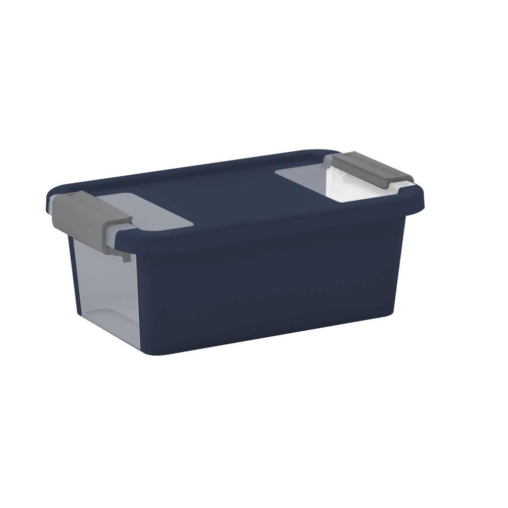 Bi-Box XS 2.5 qt. Storage Box in Midnight Blue/ Titanium (6-Pack)