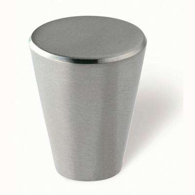 15/16 in. Fine Brushed Stainless Steel Cabinet Knob