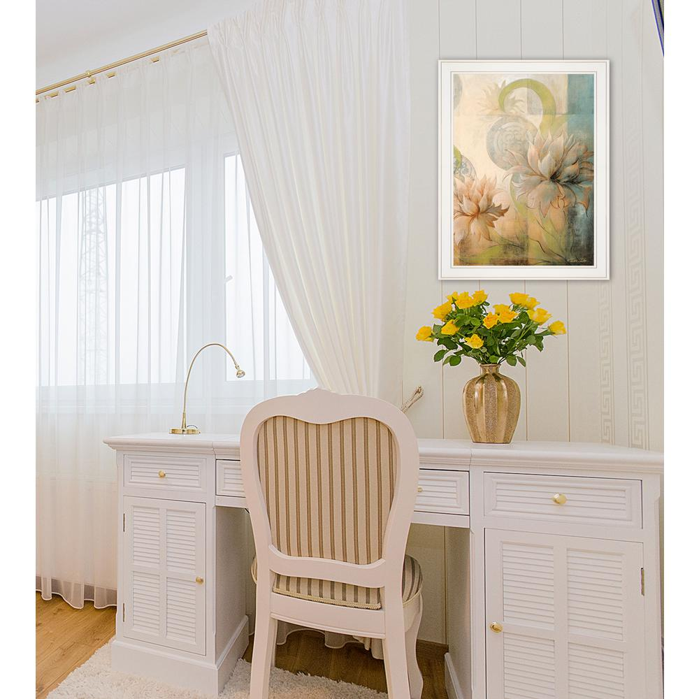 Trendy Decor 4u Meandering Flowers Ii By Dee Dee Framed Wall Art - Decorative-floral-print-chairs-from-floral-art