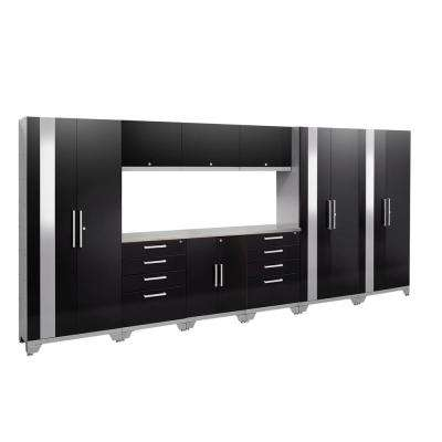 Performance 2.0 72 in. H x 162 in. W x 18 in. D Garage Cabinet Set in Black (10-Piece)