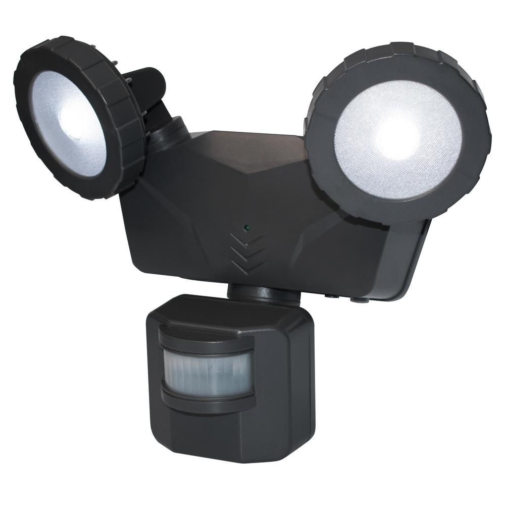 PHILEX 160 Degree Dark Grey Solar Outdoor LED 500 Lumens ...