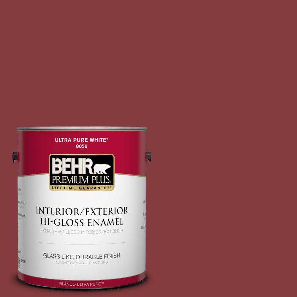 1-gal. #M140-7 Dark Crimson Hi-Gloss Enamel Interior/Exterior Paint