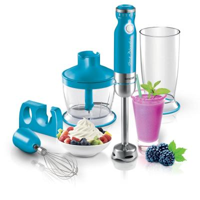 6-Speed Turquoise Stick Blender with Accessories