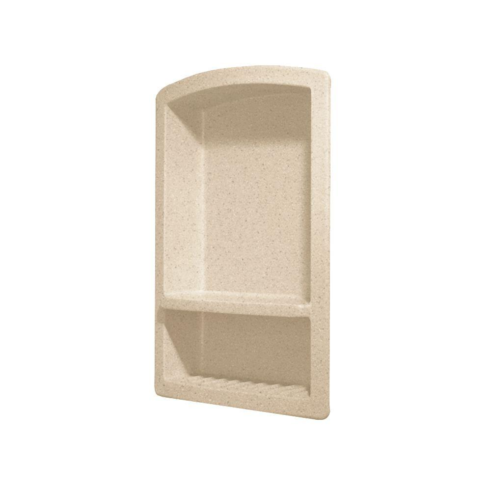 Recessed Solid Surface Soap Dish in Bermuda Sand