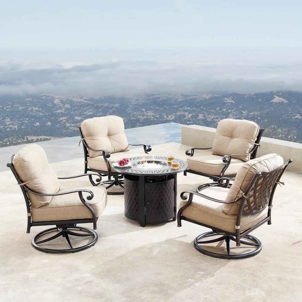 Oakland Living Finland Luxurious Antique Copper 5-Piece ... on Oakland Living Patio Sets id=66338