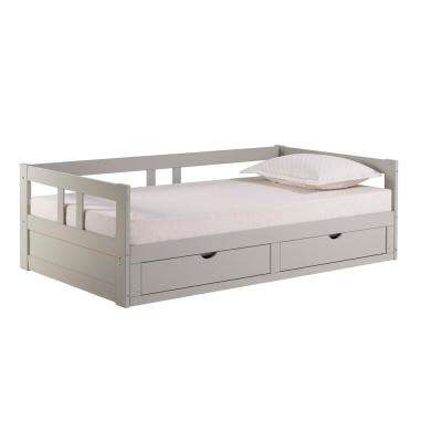 Melody Dove Gray Twin to King Bed with Under Bed Storage