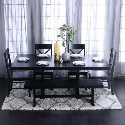 Millwright 6 Piece Black Dining Set