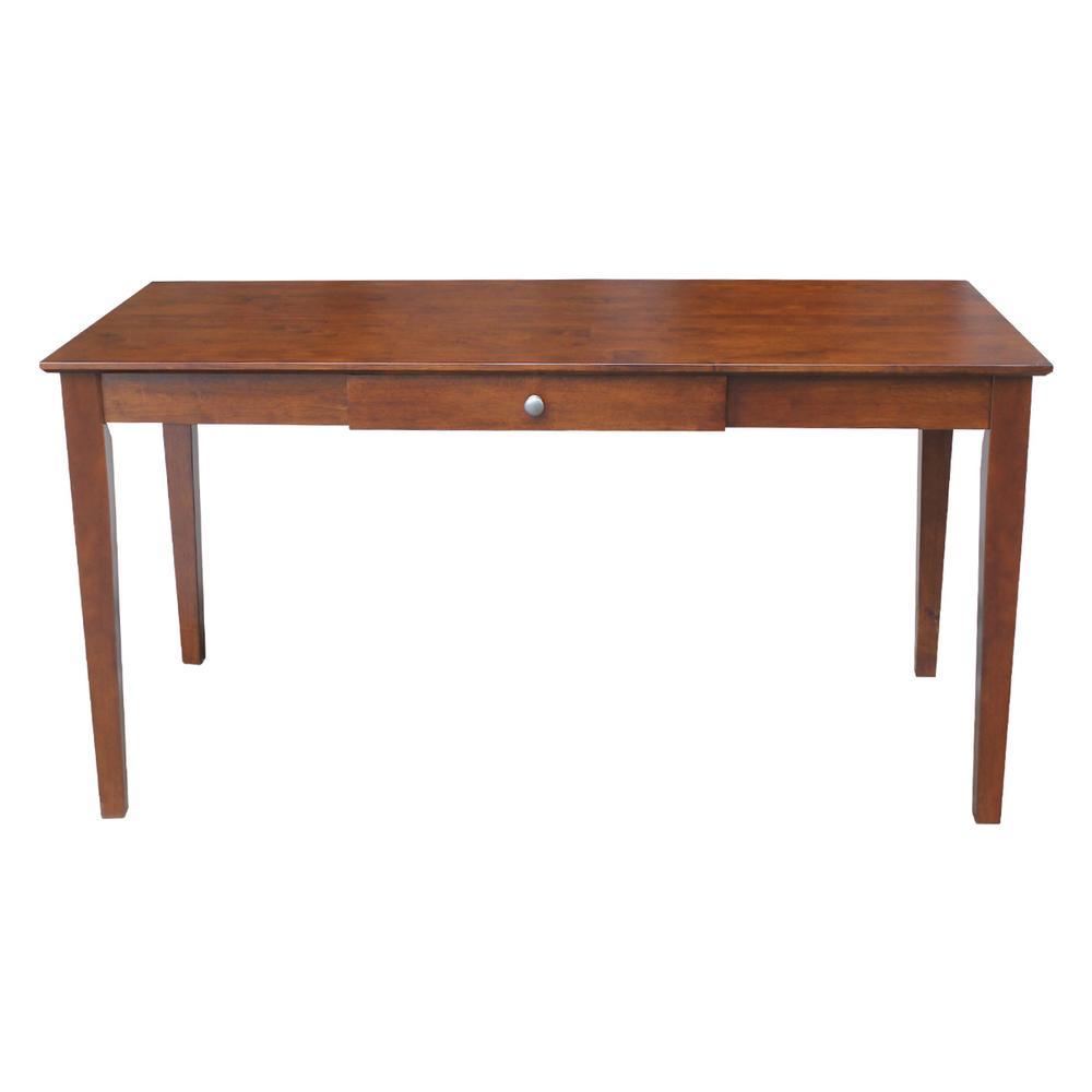 Solid Wood Espresso Desk