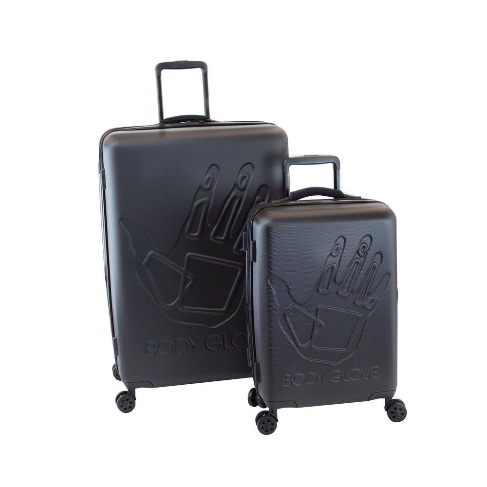 Redondo 2-Piece Black Hardside Luggage Set