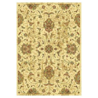 Pleasant Mahal Ivory 5 ft. 3 in. x 7 ft. 7 in. Area Rug