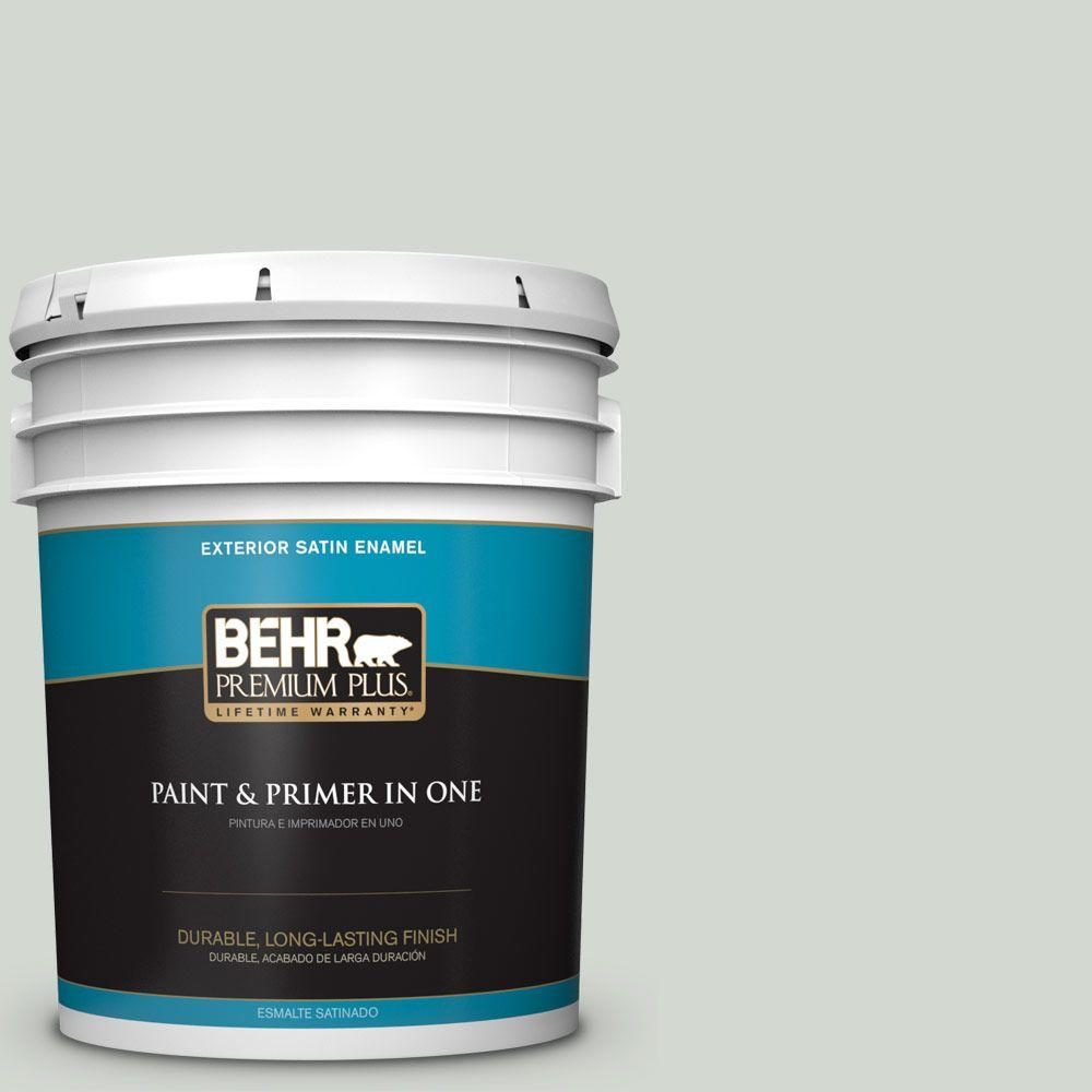 5-gal. #N410-2 Brook Green Satin Enamel Exterior Paint