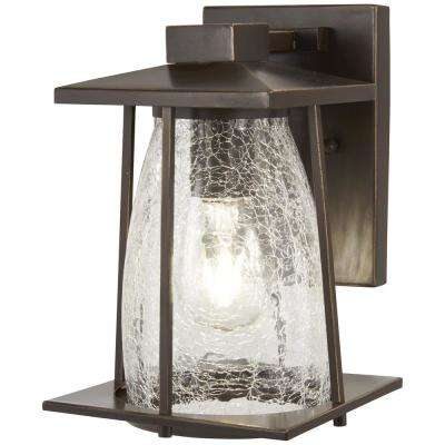 Marlboro 1-Light Oil rubbed Bronze with Gold Highlights Outdoor Wall Mount Lantern