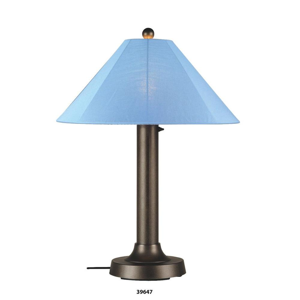 Patio Living Concepts Catalina White Table Lamp with Brass Shade Large-DISCONTINUED