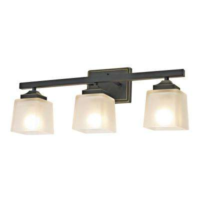Montego Collection Oil-Rubbed Bronze Vanity Light Bath Hardware Set (5-Piece)