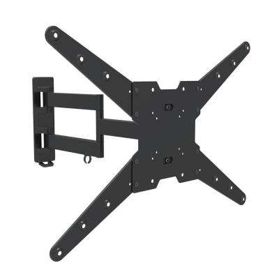 Full Motion Dual Arm TV Wall Mount for 23 in. - 70 in. Curved/Flat Panel TV's with 15 Degree Tilt, 77 lb. Load Capacity
