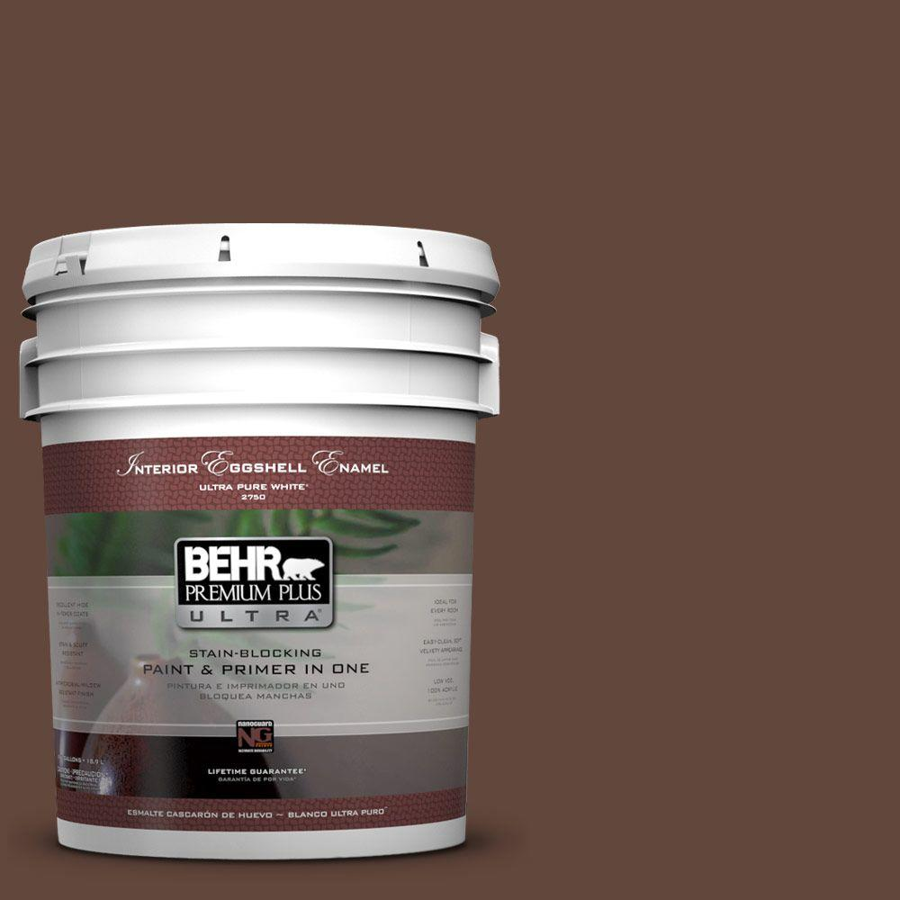 BEHR Premium Plus Ultra 5-gal. #S-G-760 Chocolate Coco Eggshell Enamel Interior Paint