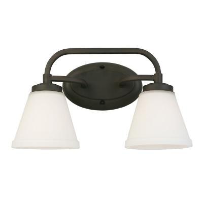 Mayview 2-Light Matte Bronze Bath Light