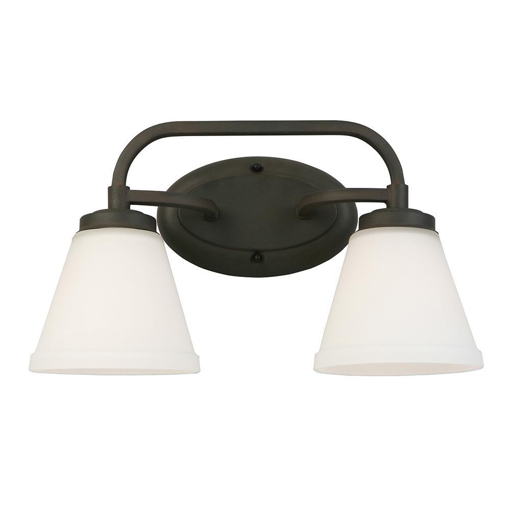 Mayview 2-Light Matte Bronze Bath Light