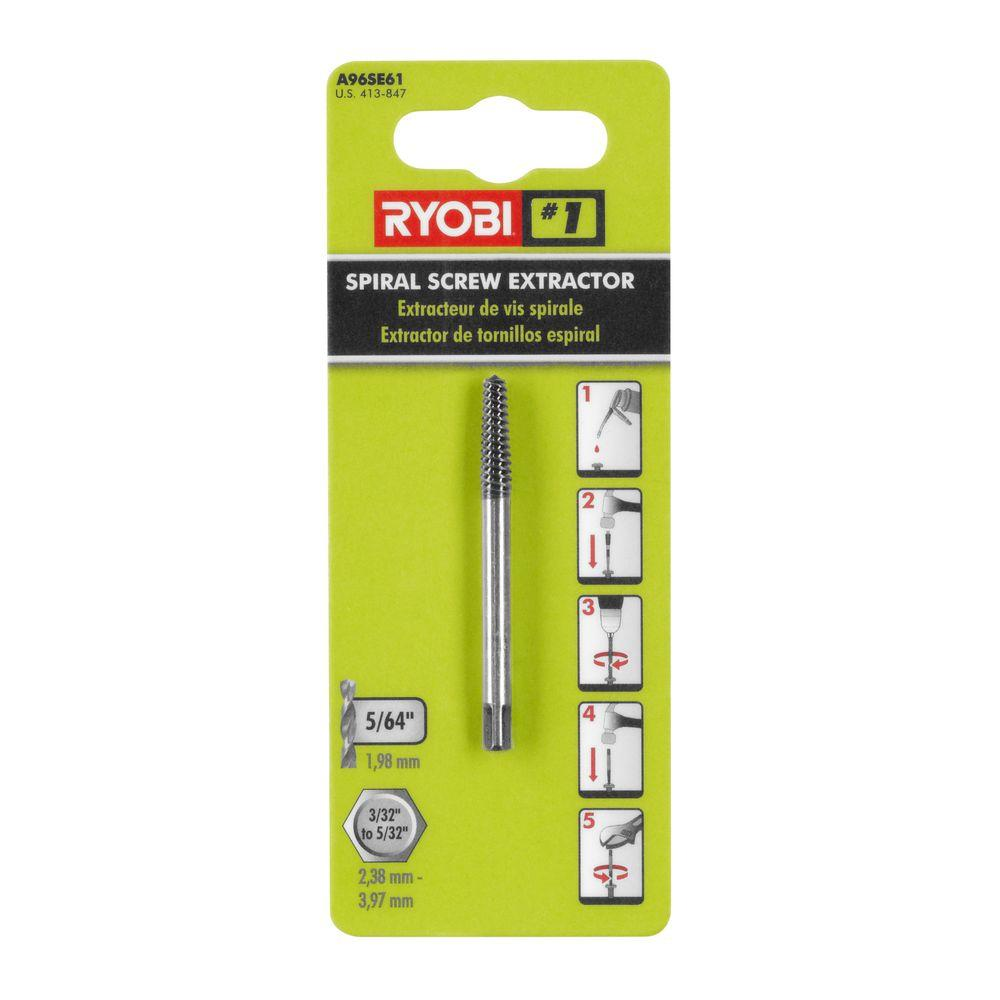 Ryobi No 1 Spiral Screw Extractor A96se61 The Home Depot