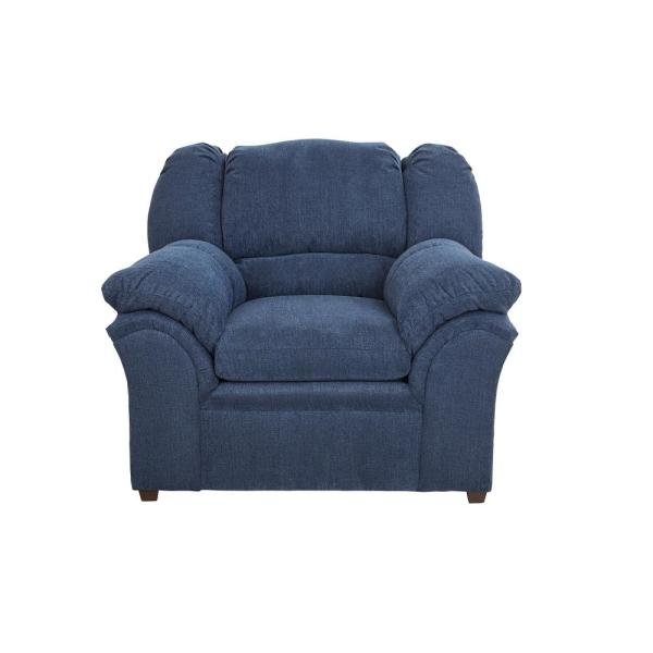 Progressive Furniture Big Ben Indigo Chenille Upholstered Chair