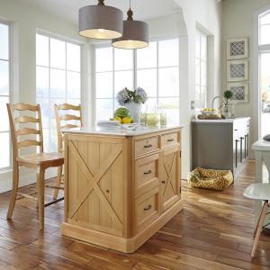 Magnificent Homestyles Country Lodge Pine Kitchen Island With Quartz Top Evergreenethics Interior Chair Design Evergreenethicsorg