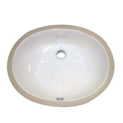Classically Redefined Undercounter Bathroom Sink in White