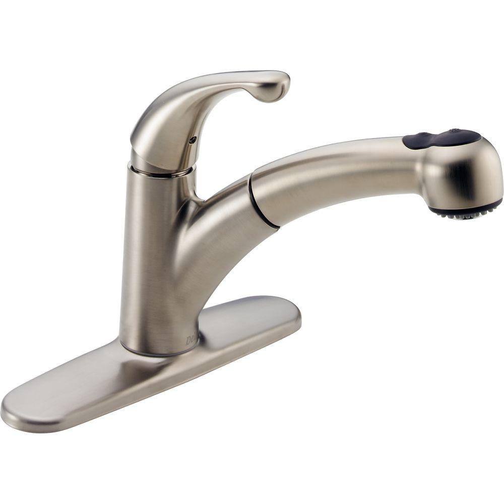 Delta Palo Single Handle Pull Out Sprayer Kitchen Faucet