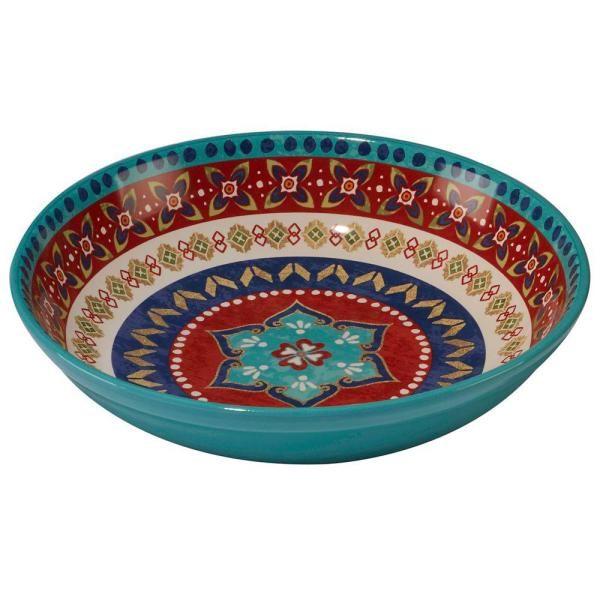 Certified International Monterrey 13.25 in. x 3 in. Multi-Colored Pasta/Serving Bowl