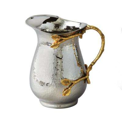 Golden Vine Hammered Pitcher with Ice Guard