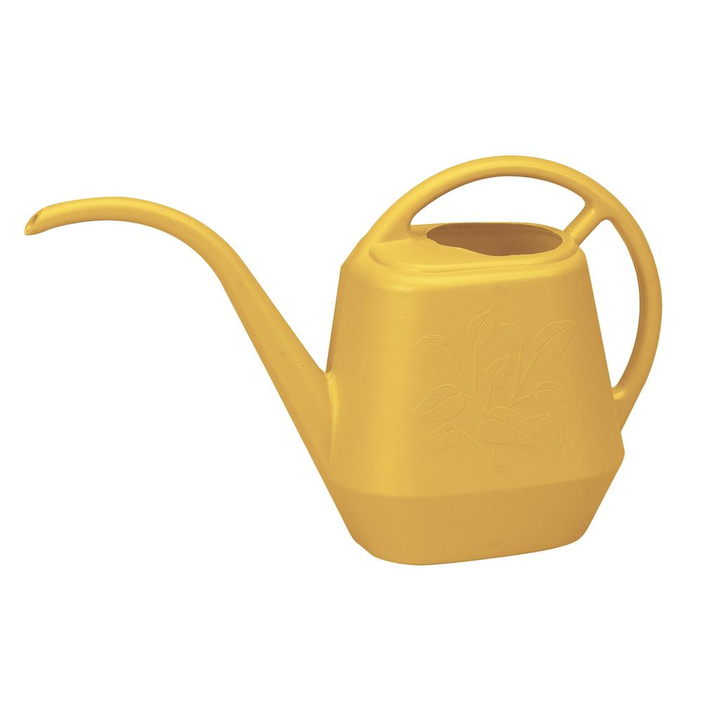 Bloem Aqua Rite 1/2 Gal. Earthy Yellow Watering Can