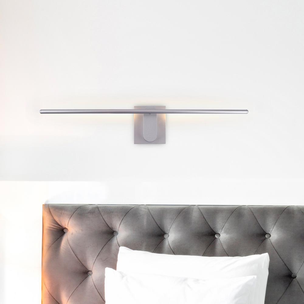 Wezen 11-Watt Silver Integrated LED Sconce