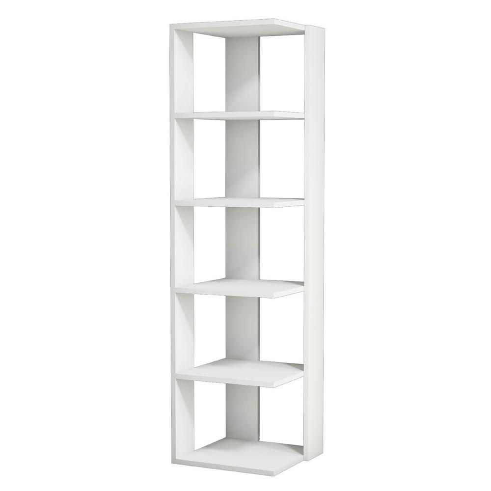 Borso White Modern Bookcase