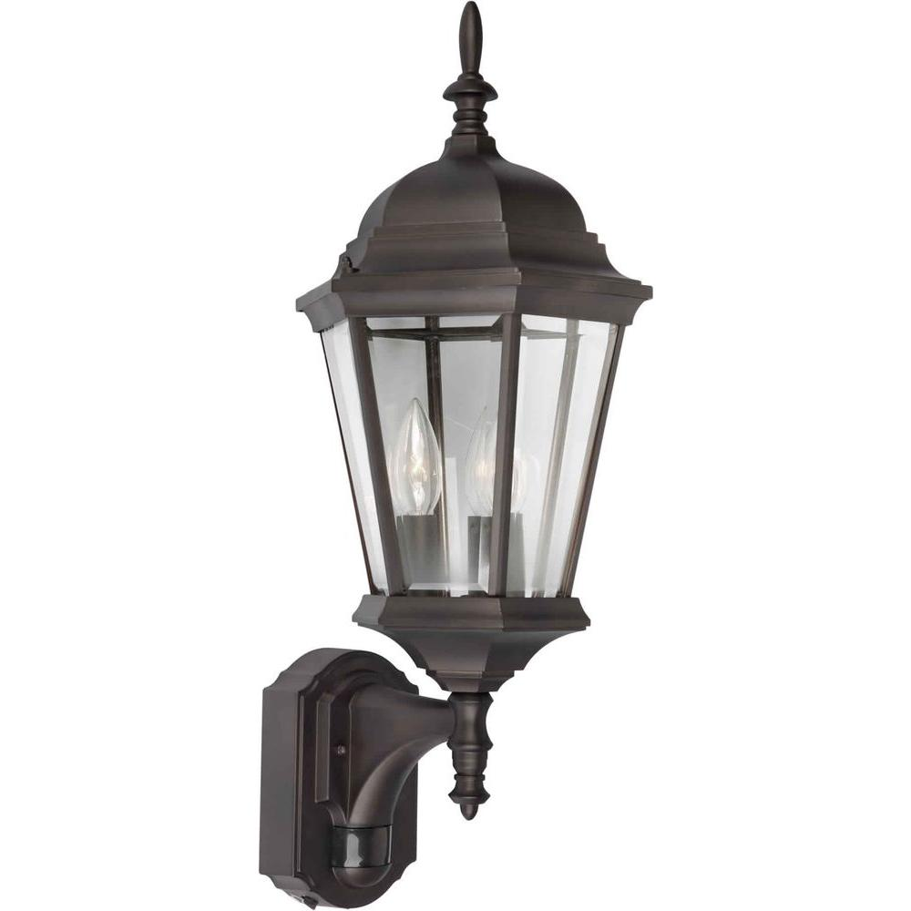 Illumine 1 Light Outdoor Lantern Antique Bronze Finish Clear Beveled Glass Panels-DISCONTINUED