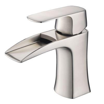 Fortore Single Hole Single-Handle Low-Arc Bathroom Faucet in Brushed Nickel