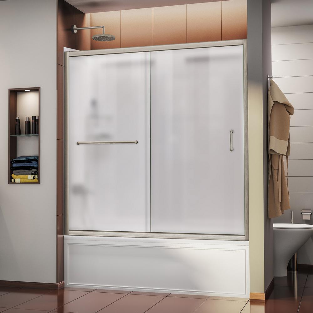 Dreamline infinity z 60 in x 60 in framed sliding tub - Bathtub shower doors ...
