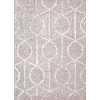 Hand-Tufted Drizzle 8 ft. x 11 ft. Trellis and Chain Area Rug