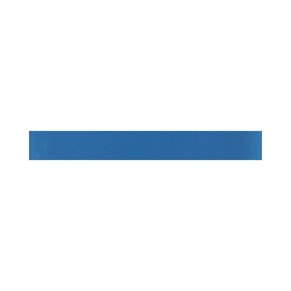 Daltile Glass Reflections 1 in. x 6 in. Ultimate Blue Glass Liner Wall Tile-DISCONTINUED