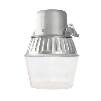 65-Watt Metallic Outdoor Fluorescent Security Wall and Area Light with Dusk to Dawn Photocell Sensor