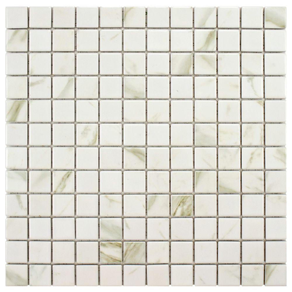 Marmoro White 11-5/8 in. x 11-5/8 in. x 5 mm Porcelain
