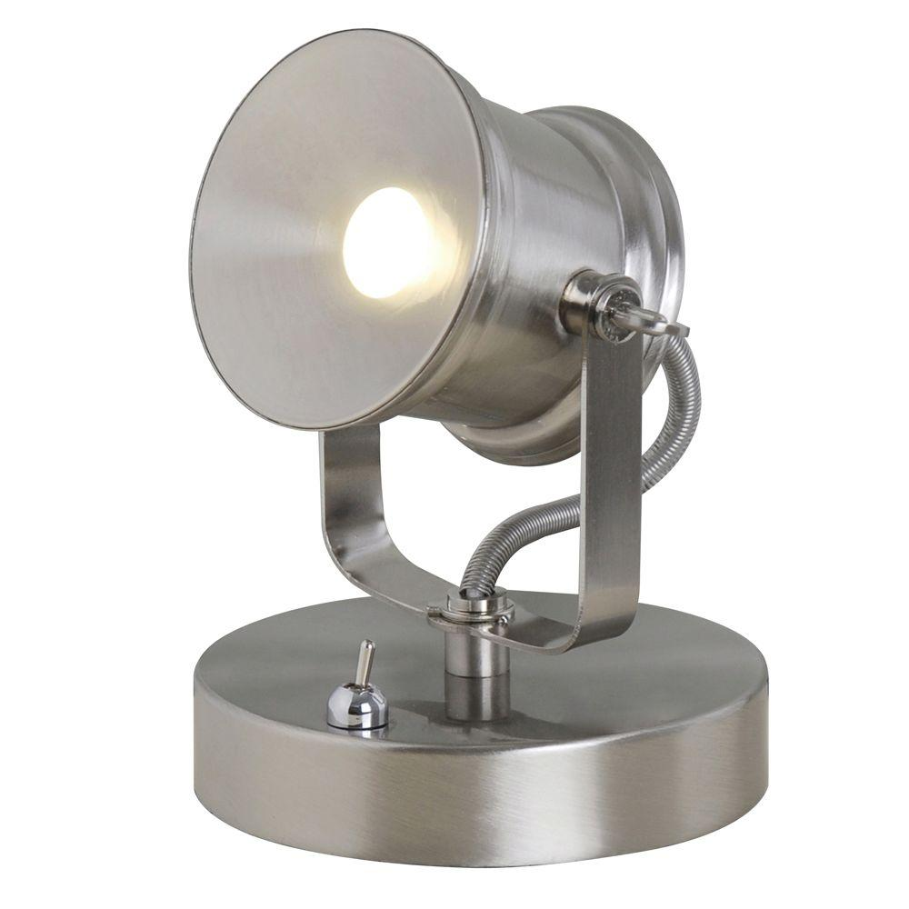 Brushed Nickel Integrated LED Spotlight Desk Lamp