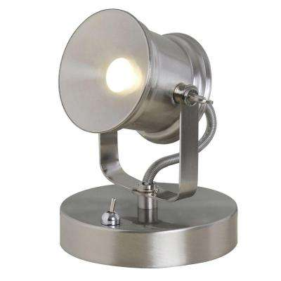 5.1 in. Brushed Nickel LED Spotlight Desk Lamp
