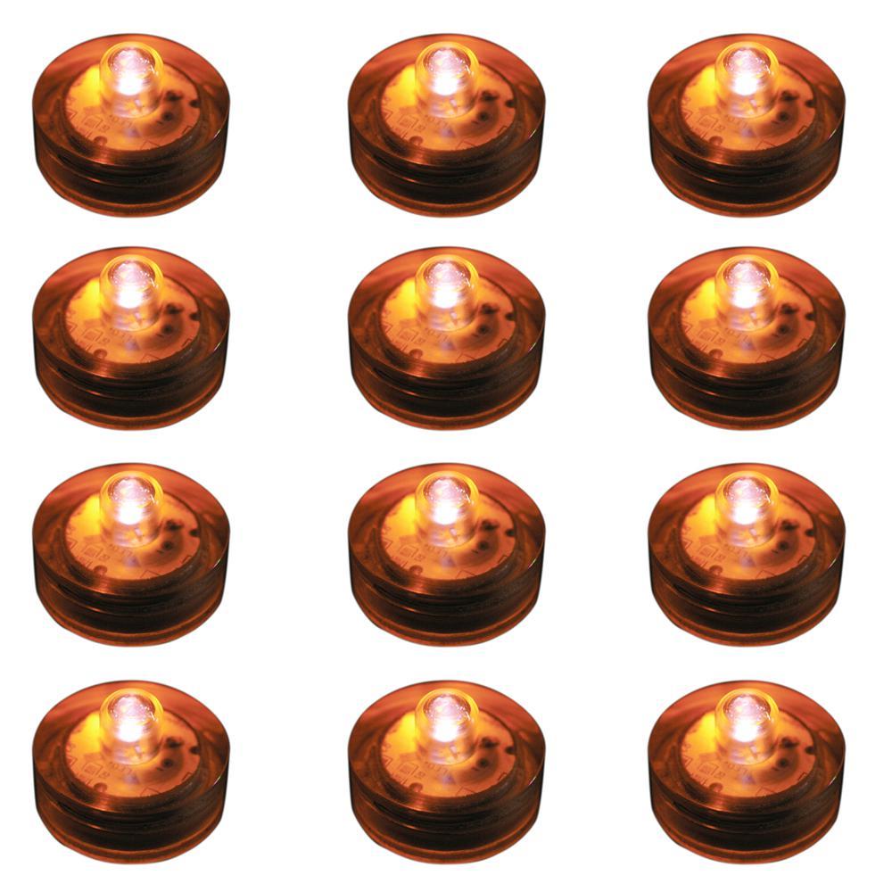 Lumabase Orange Submersible LED Lights (Box of 12)