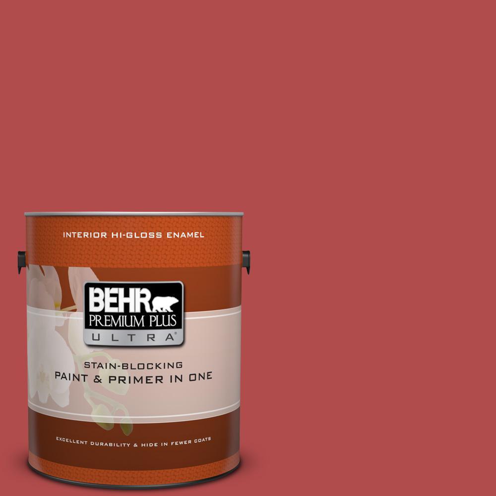 1 gal. #BIC-48 Fortune Red Hi-Gloss Enamel Interior Paint