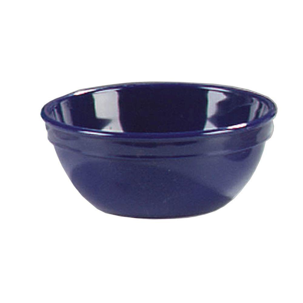 15 oz., 5.25 in. Diameter Polycarbonate Nappie Bowl in Dark Blue (Case of 48)