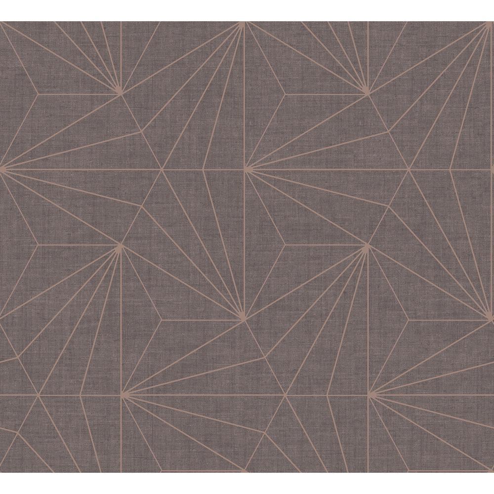 Sirpi Luzon Brown Geometric Wallpaper
